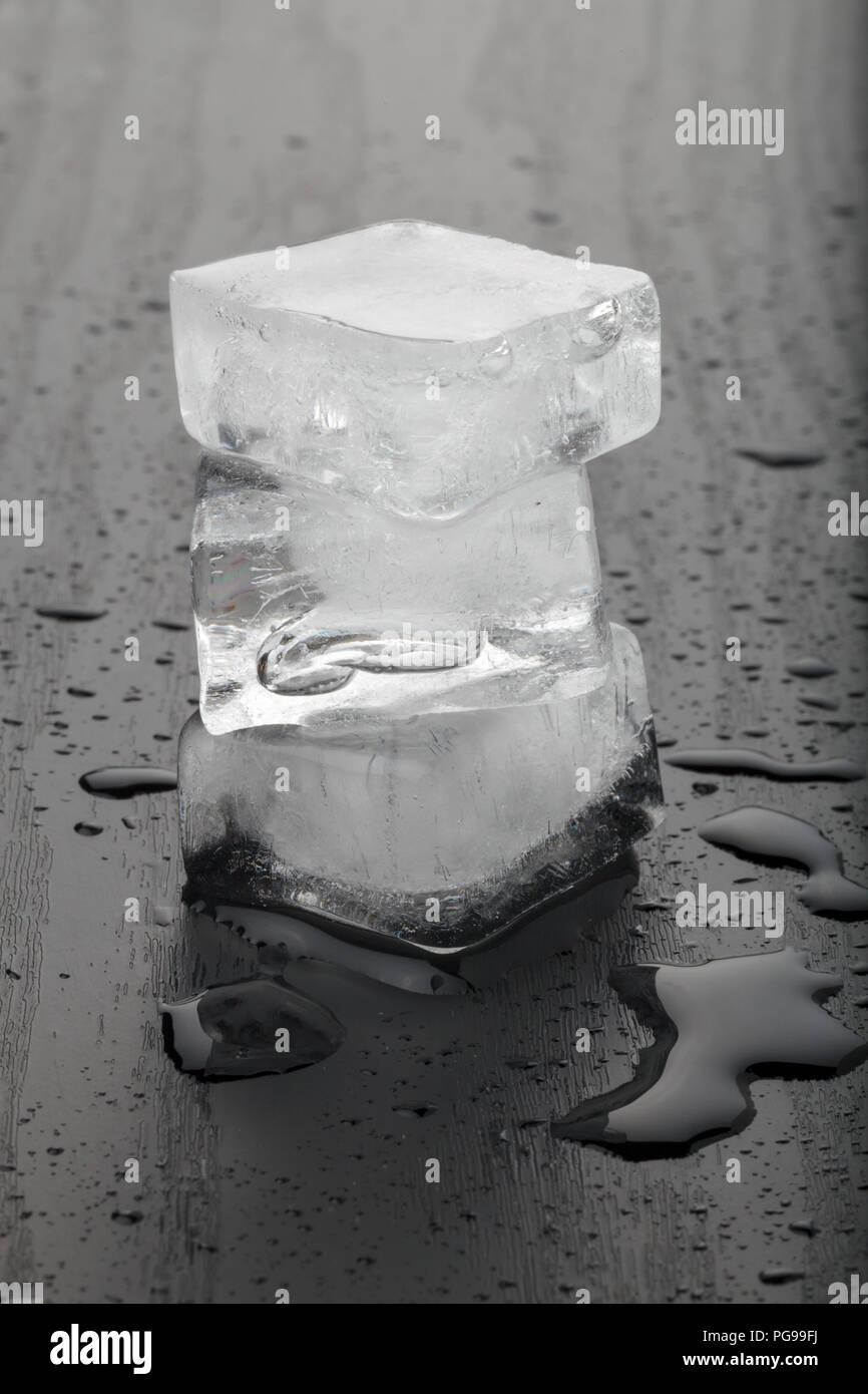 Melting ice cubes. - Stock Image