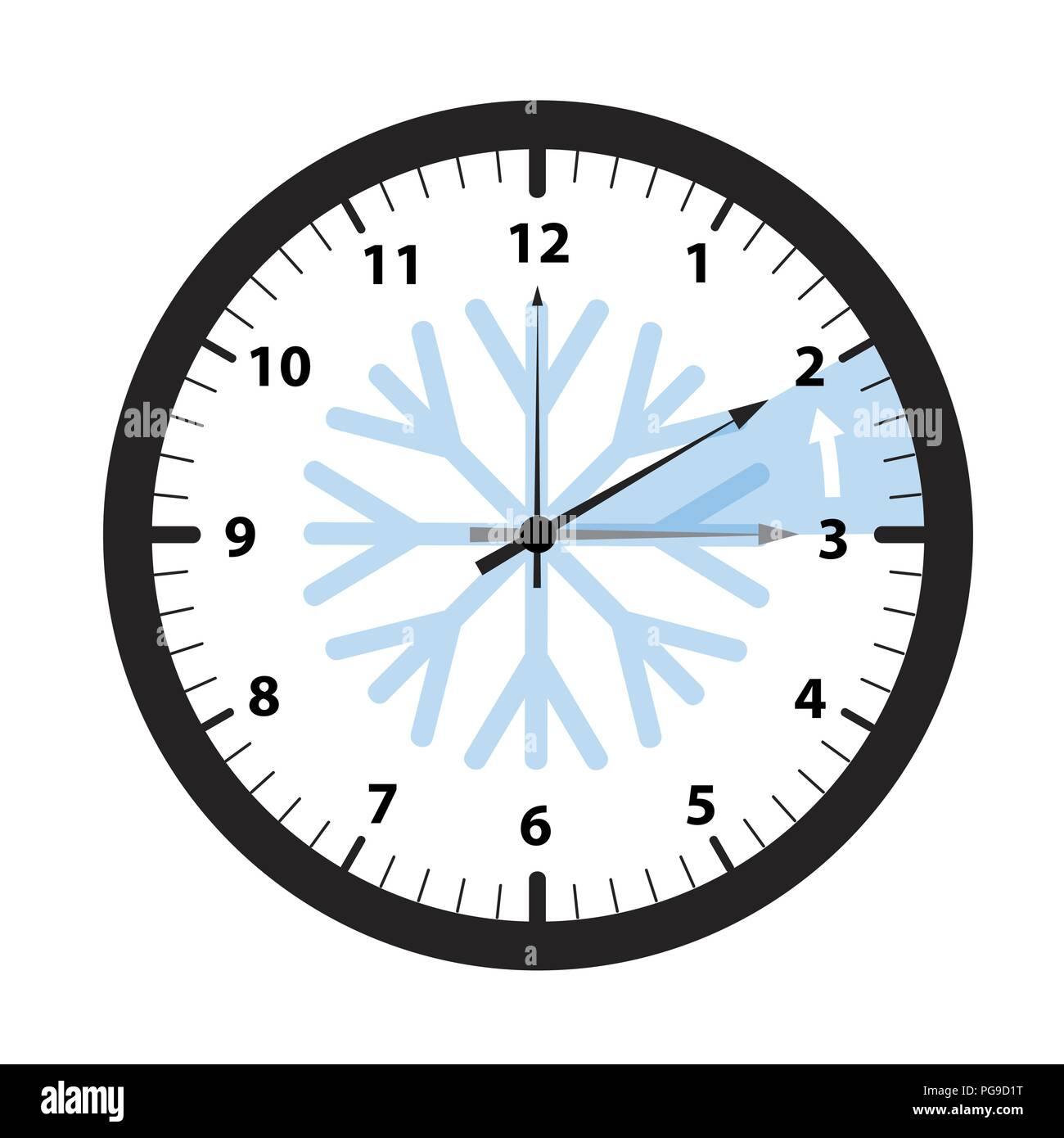 clock switch to winter time vector illustration EPS10 - Stock Vector