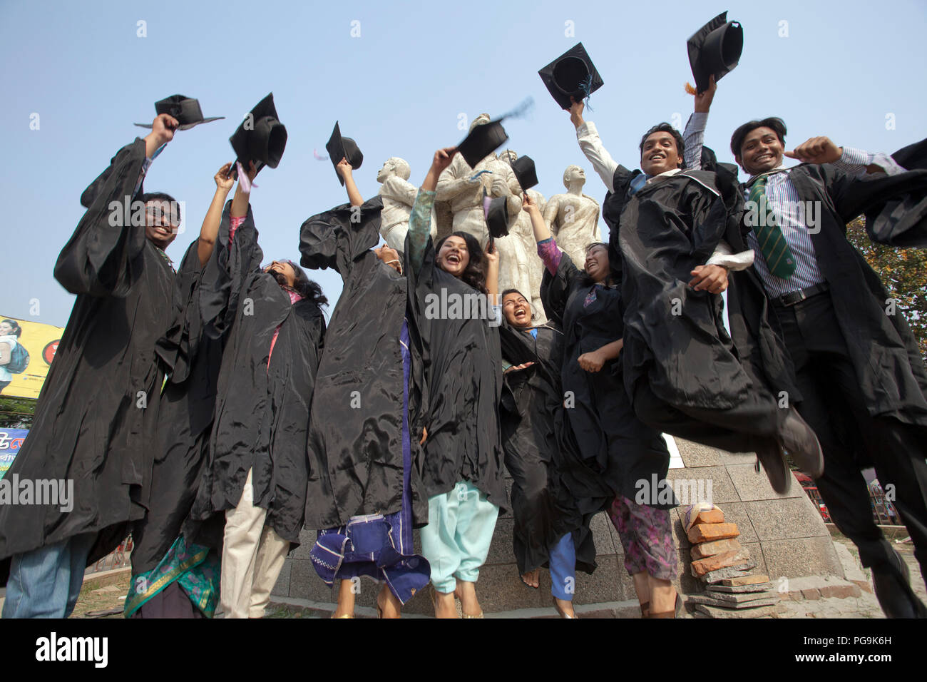 a652bafe7a A group of graduates gather during the 46th Convocation of the students of Dhaka  University. Dhaka