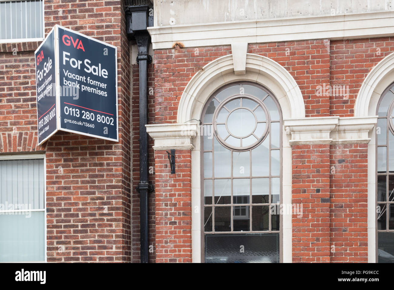 Bank premises for sale in Pocklington, East Yorkshire - Stock Image