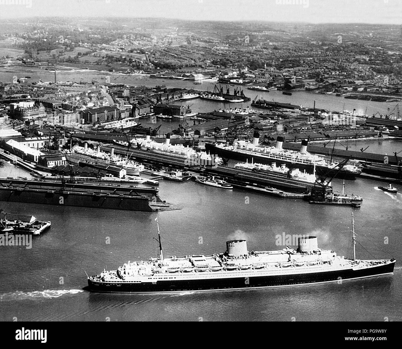 Southampton Docks, early 1900s - Stock Image