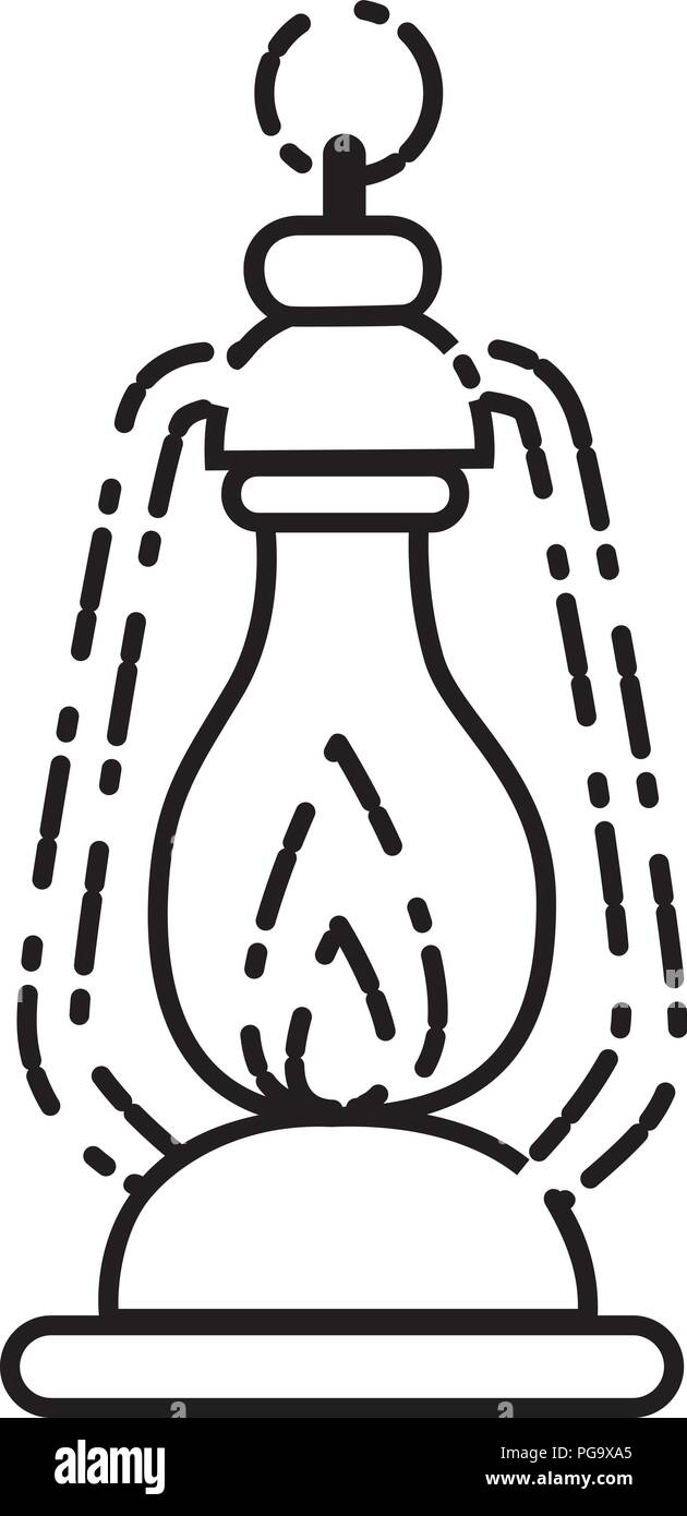 camp lamp oil - Stock Vector