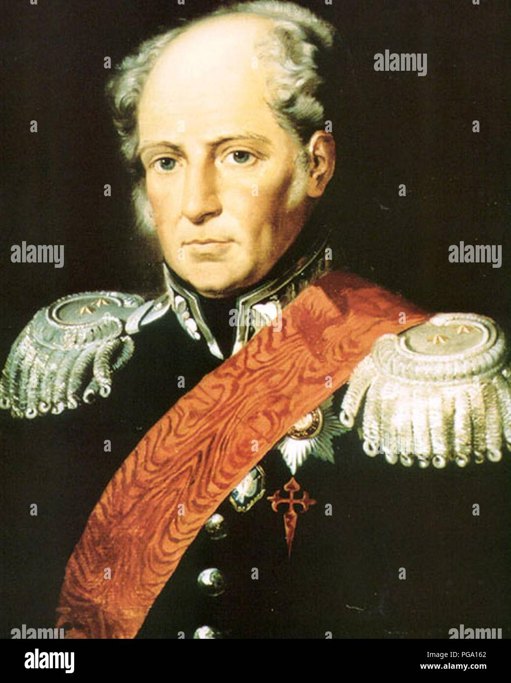 Augustin de Betancourt in Russian attire 1810s. - Stock Image
