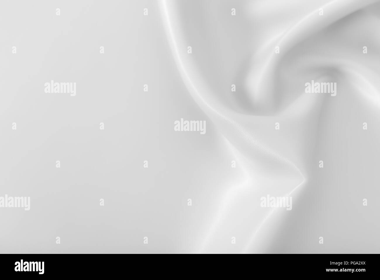 Smooth elegant shiny silver silk or satin luxury cloth texture can use as abstract holidays background. Luxurious Christmas background or New Year bac - Stock Image