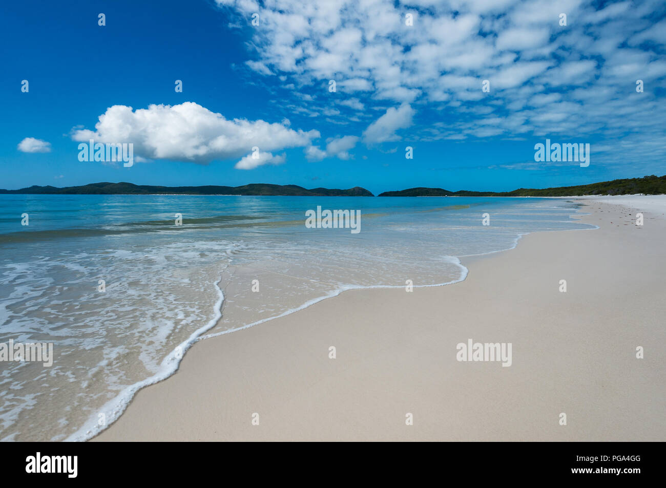 Whitehaven Beach is one of the most splendid beaches in the world. - Stock Image