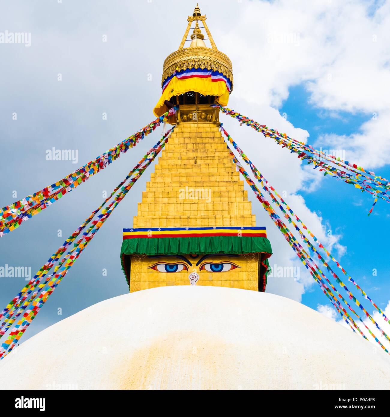 Boudhanath Stupa Bouddha Nepal Asia Stock Photos & Boudhanath Stupa Bouddha Nepal Asia Stock
