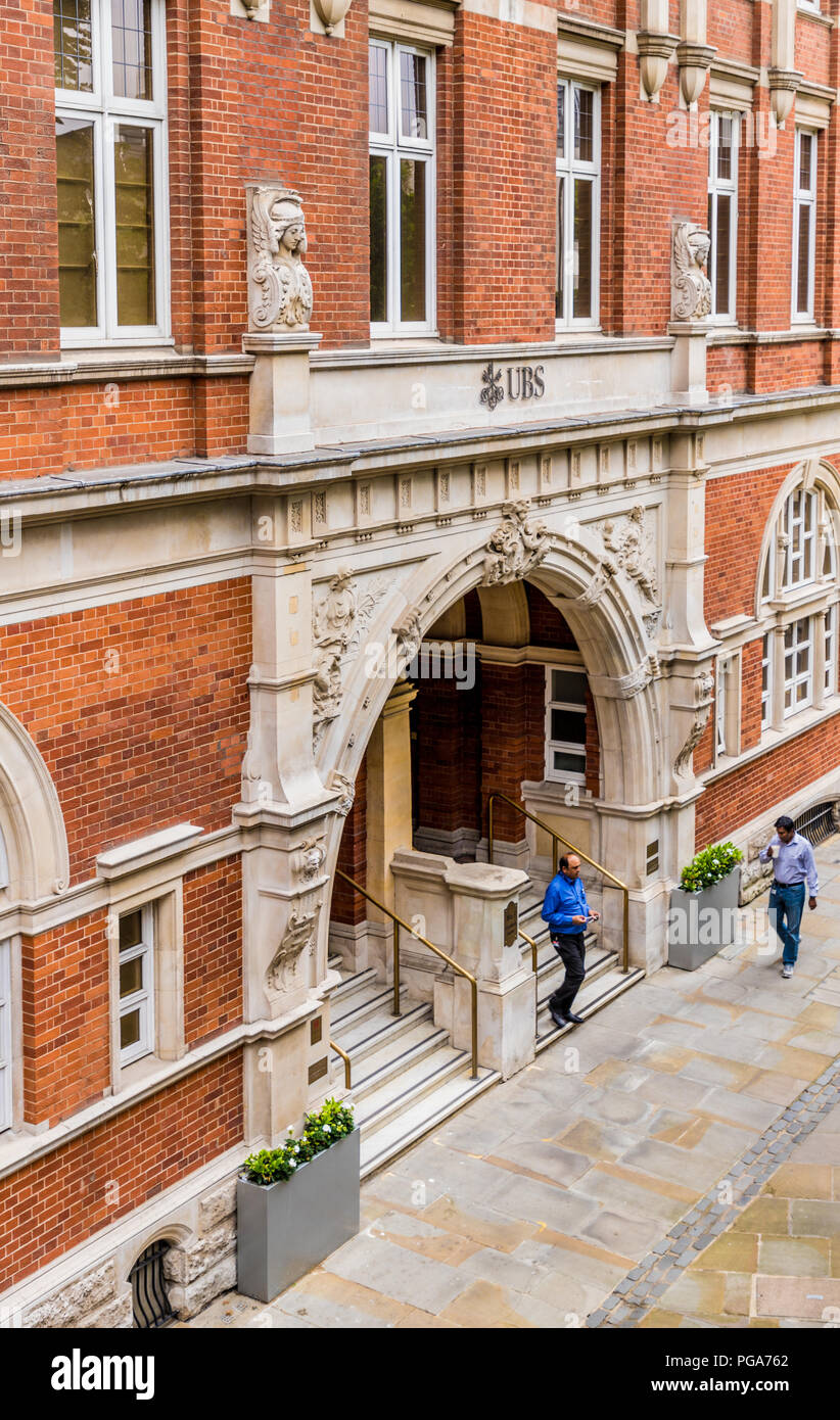 A typical view in the barbican area in london - Stock Image