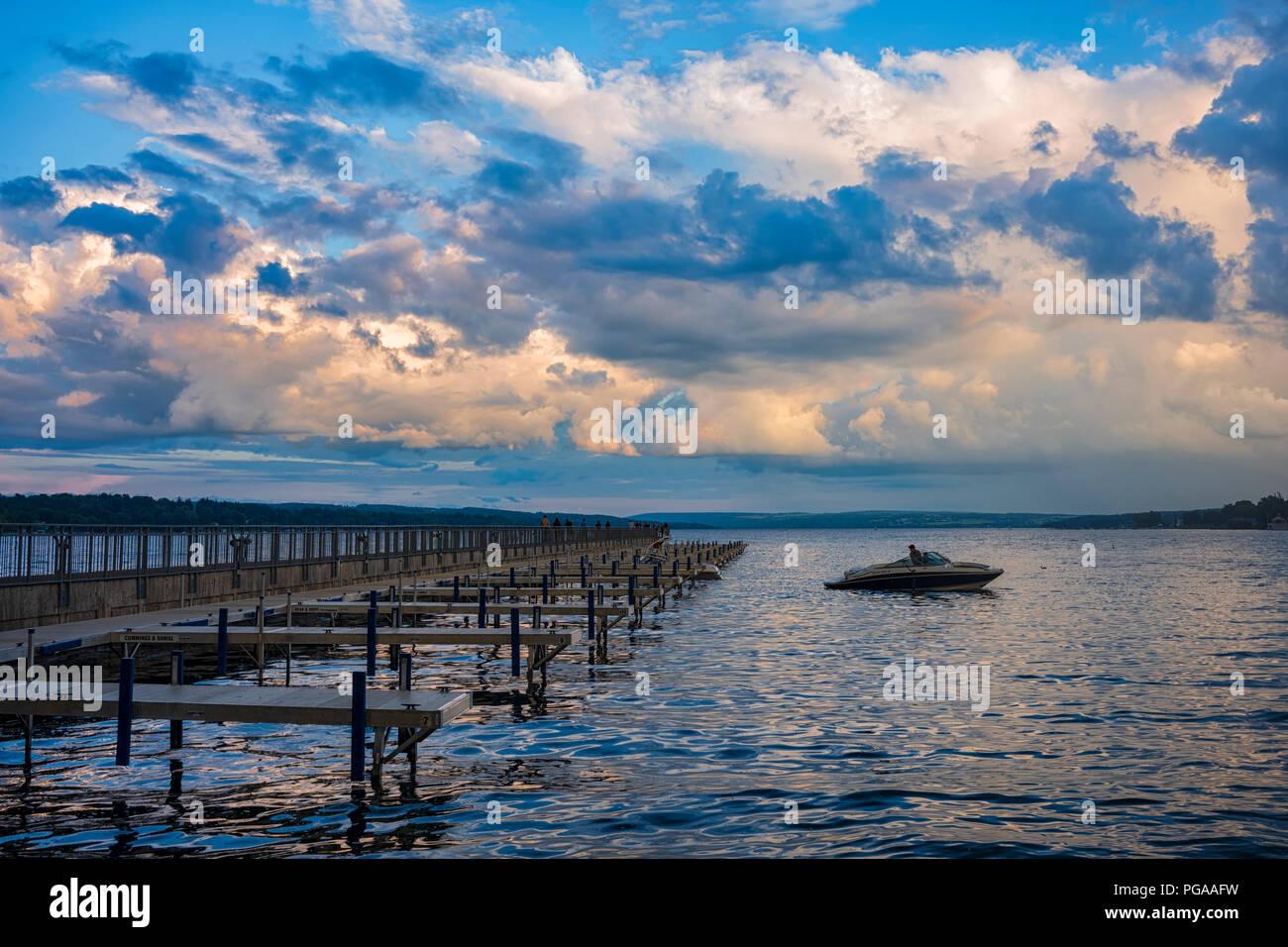 Skaneateles Lake Skaneateles New York Usa August 11 2018 Stock
