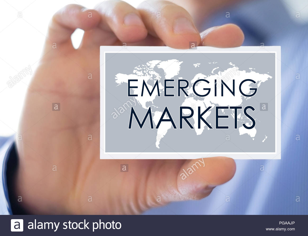 Emerging Markets - business concept - Stock Image