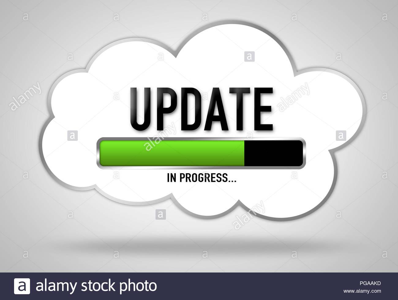 Update in progress - loading bar - Stock Image