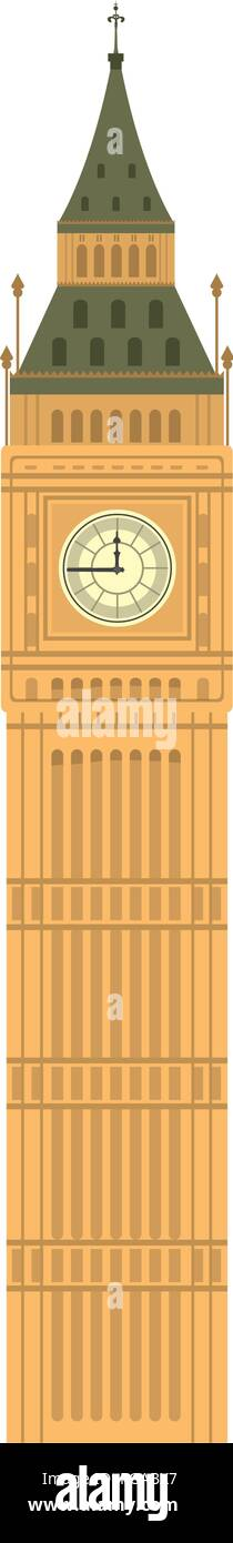 big ben tower history architecture - Stock Vector