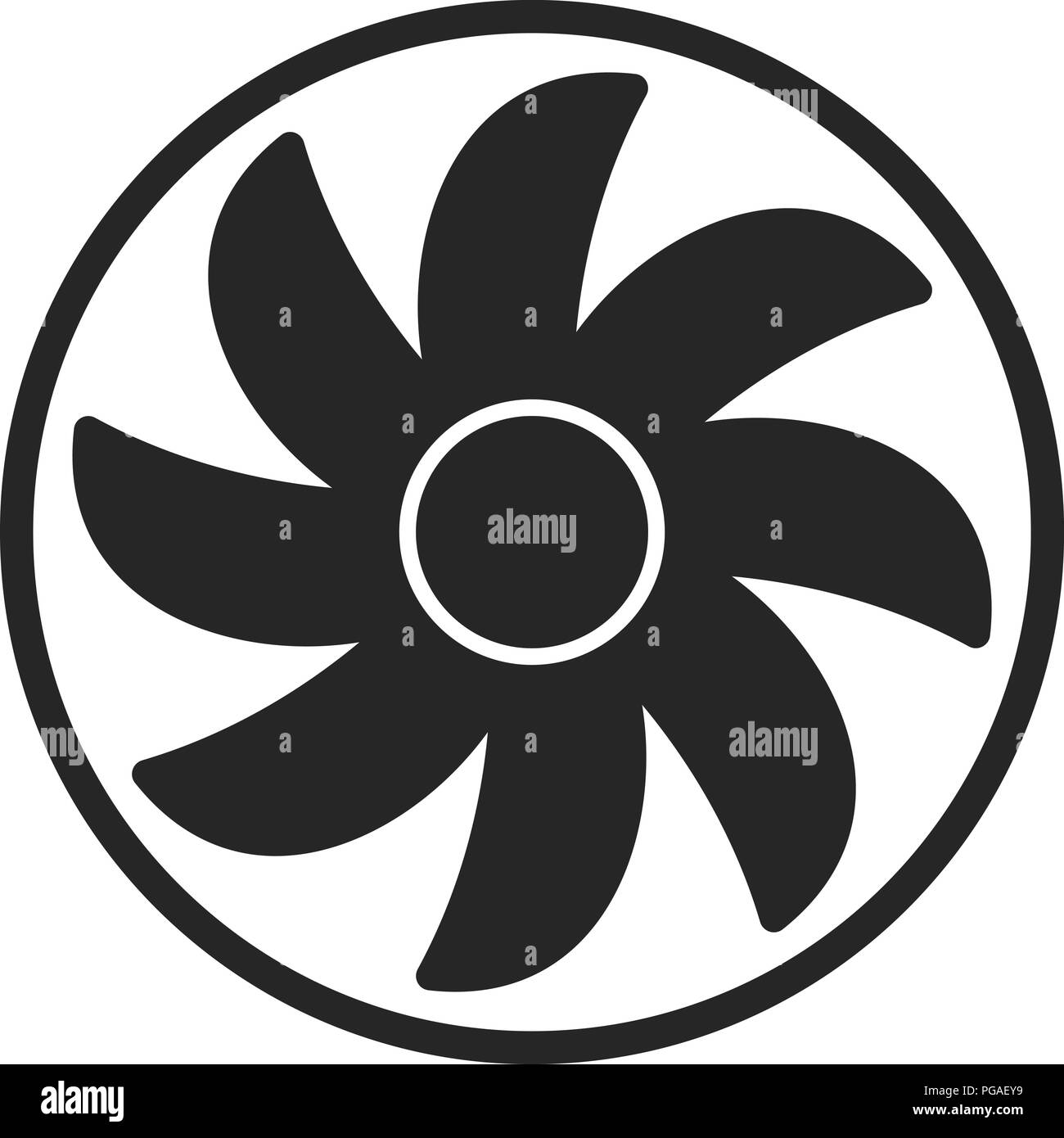 Fan Shape Stock Vector Images Alamy
