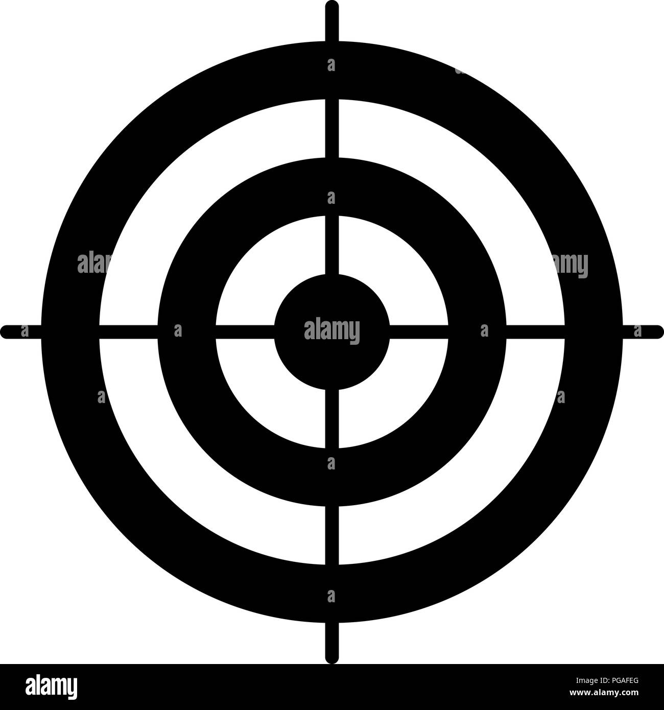 simple circle target template bullseye symbol stock vector art