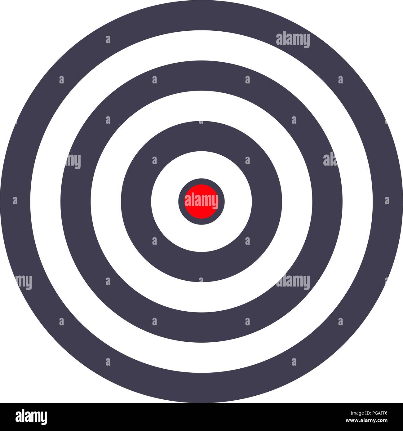 simple target template bullseye symbol stock vector art