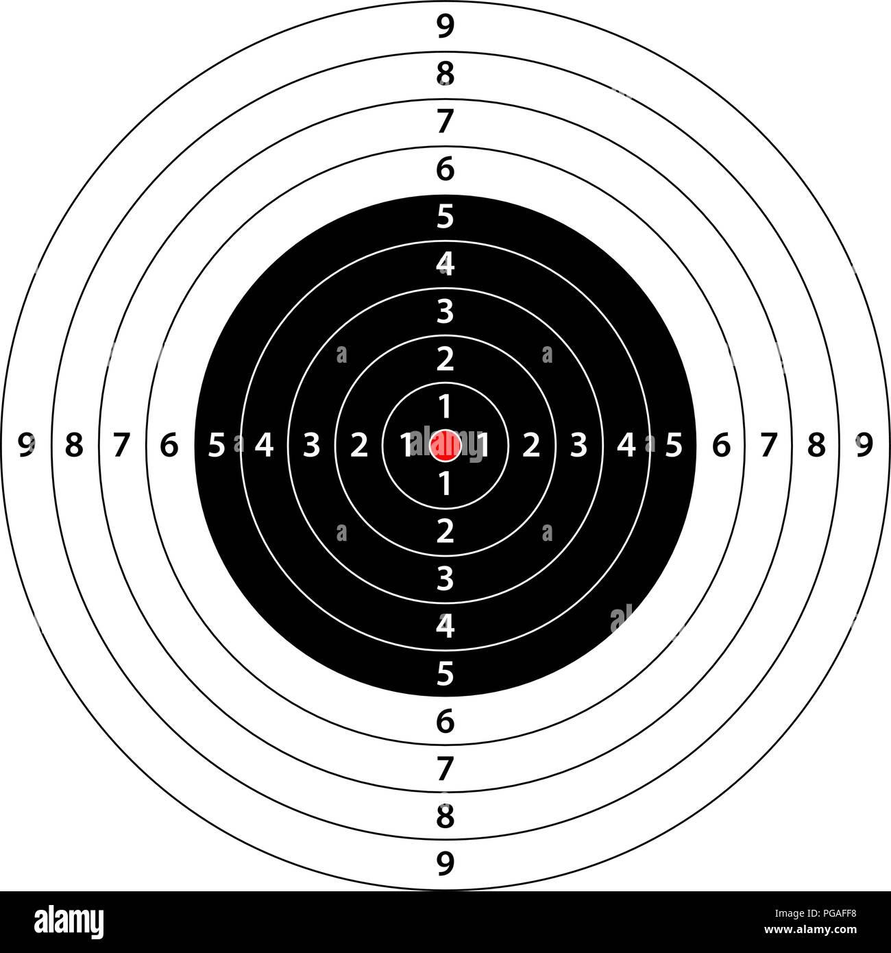 Bullseye Template Bullseye Target Arrow Powerpoint Template