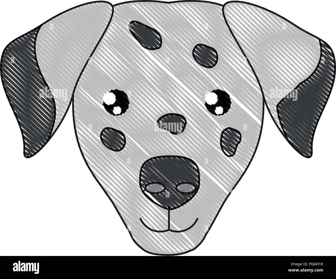 cute dalmatian dog icon over white background, vector illustration Stock Vector