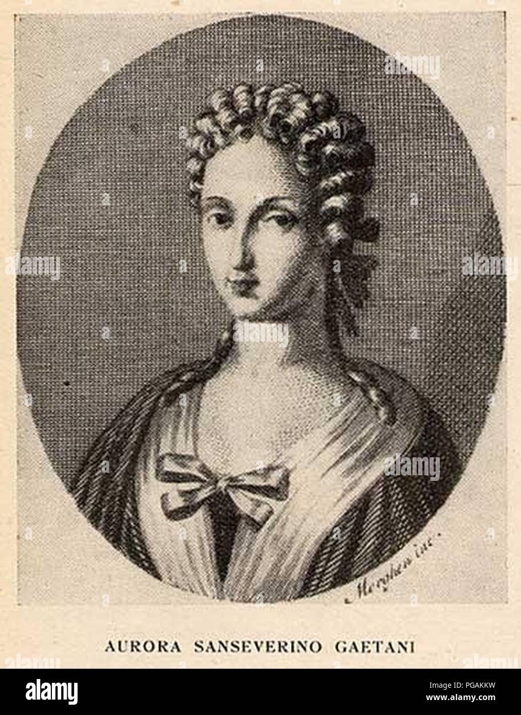 Aurora Sanseverino Gaetani. Stock Photo