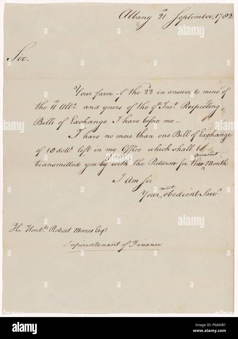 vintage hand written letter - Stock Image
