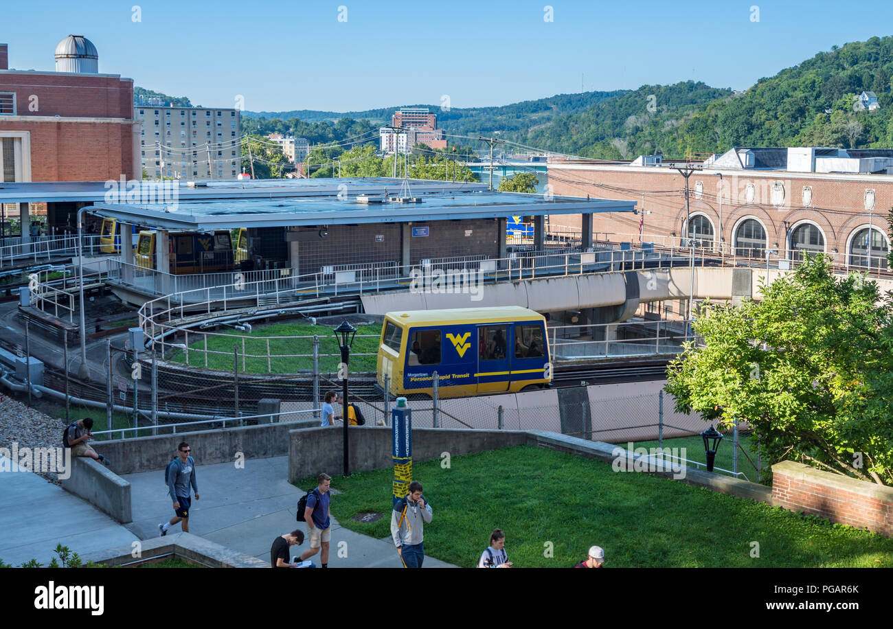 PRT station at West Virginia University in Morgantown WV - Stock Image