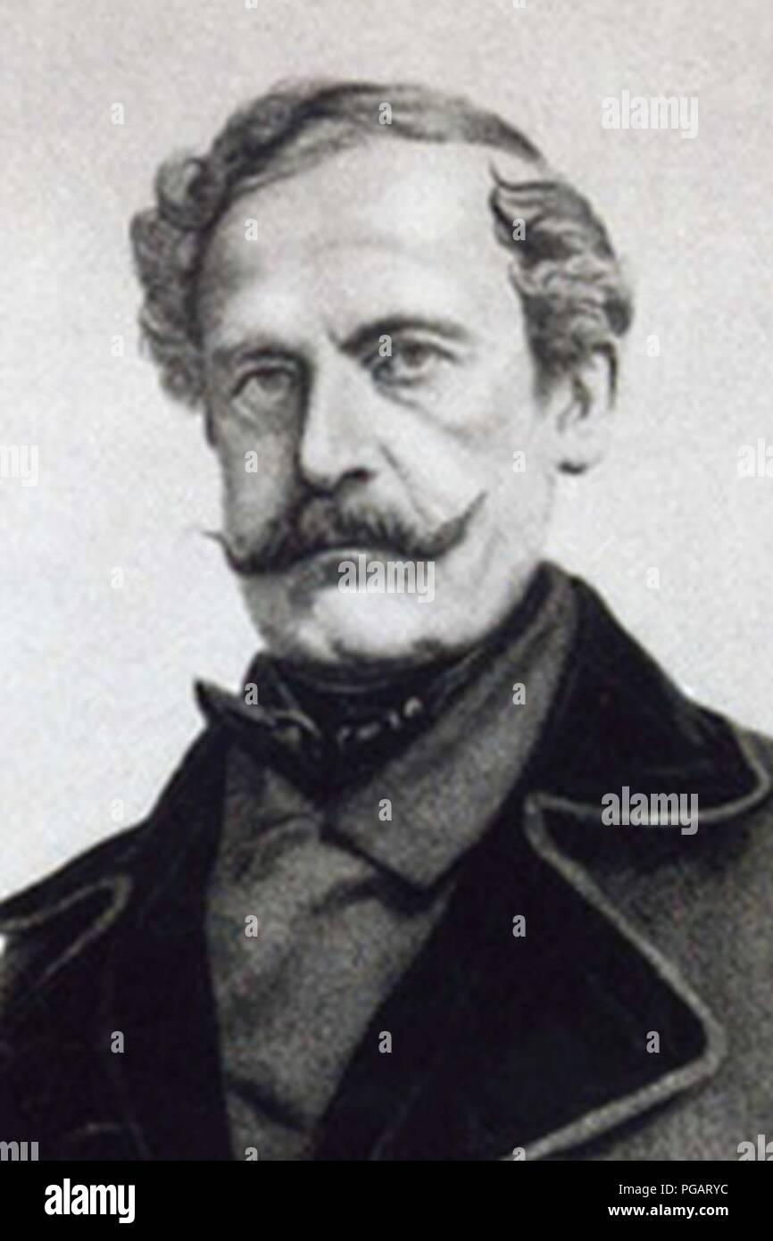 August Ludwig zu Sayn-Wittgenstein-Berleburg. - Stock Image