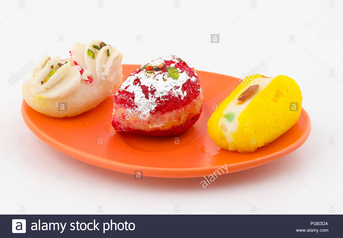 Indian Traditional Bengali Sweet Food Also Know as Bangla Sweet or Bengali Dessert isolated on White Background - Stock Image