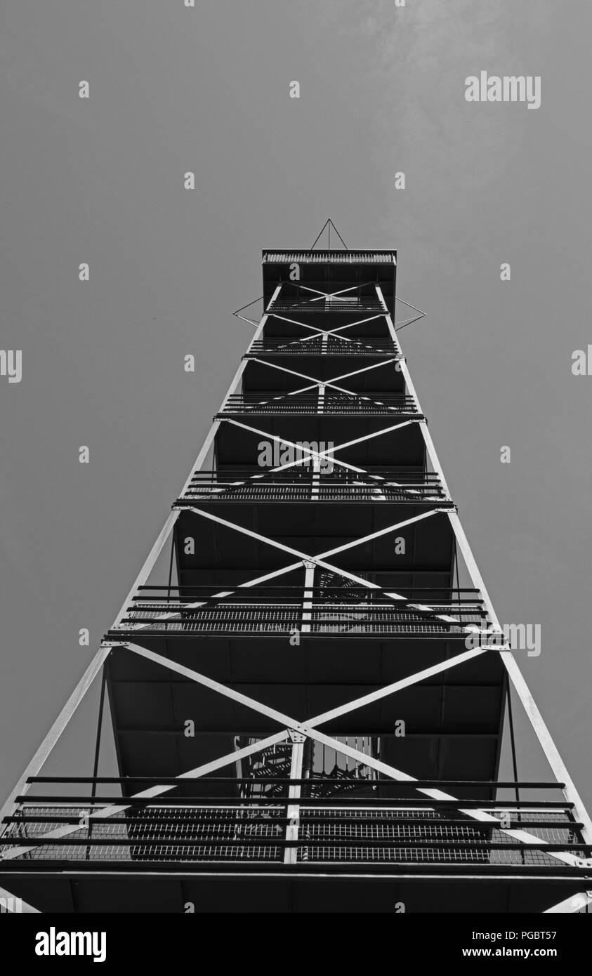 Steel tower - Stock Image