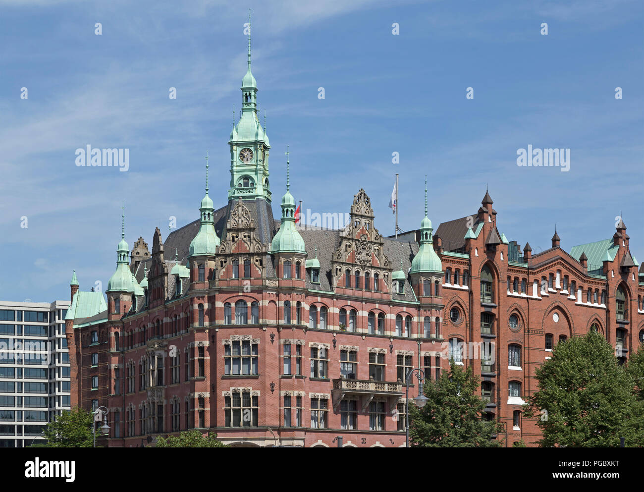 The so called town hall of the Speicherstadt (warehouse district), Hamburg, Germany - Stock Image