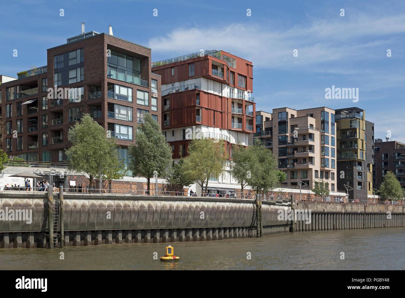 Dalmannkai, HafenCity (Harbour City), Hamburg, Germany - Stock Image