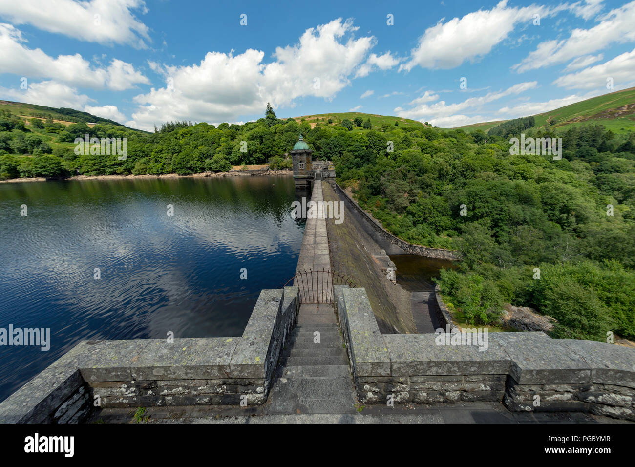 Pen Y Garreg Dam in the Elan Valley area of Wales a stunning piece of architecture - Stock Image