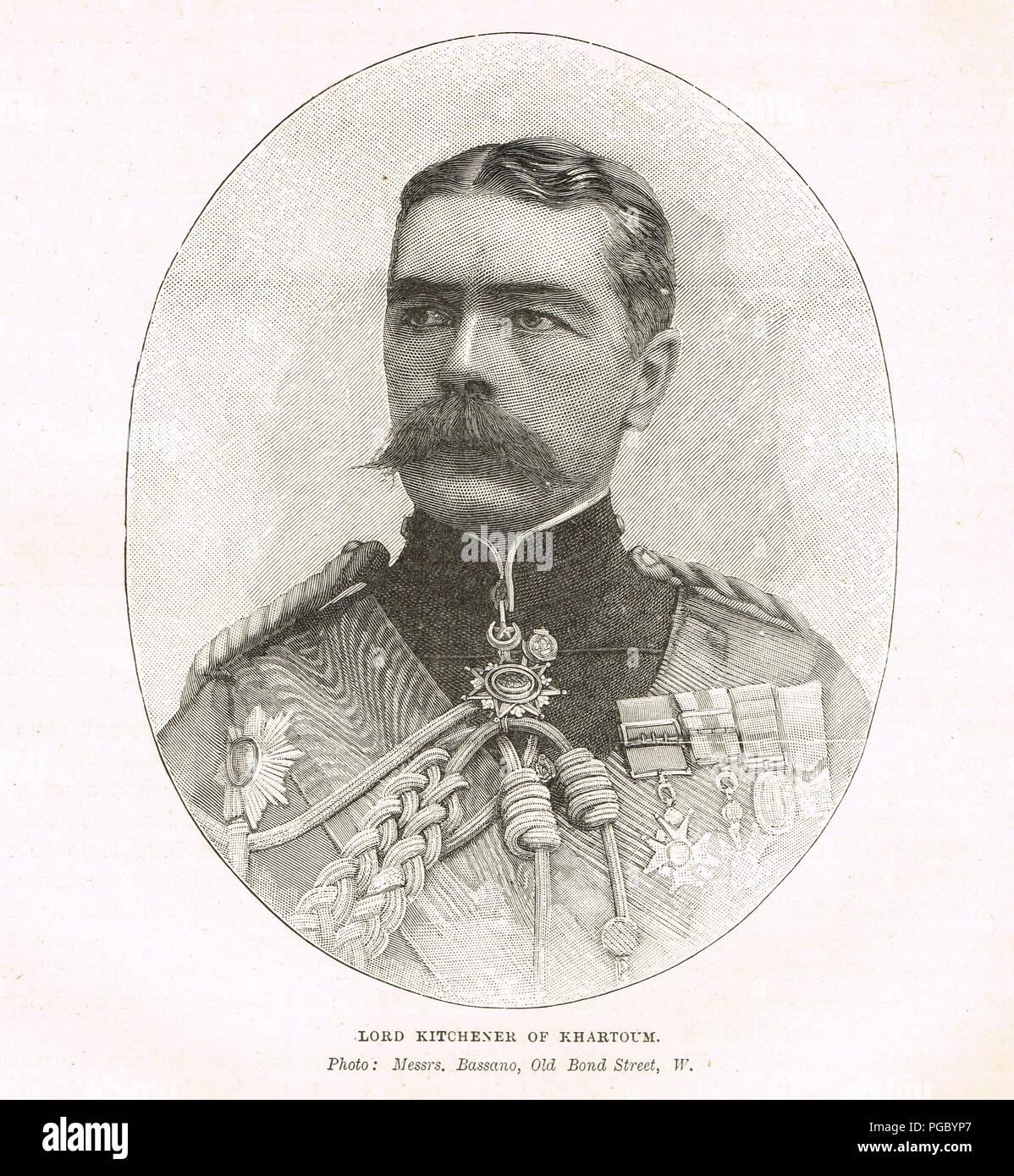 Field Marshal Horatio Herbert Kitchener, Lord Kitchener of Khartoum - Stock Image