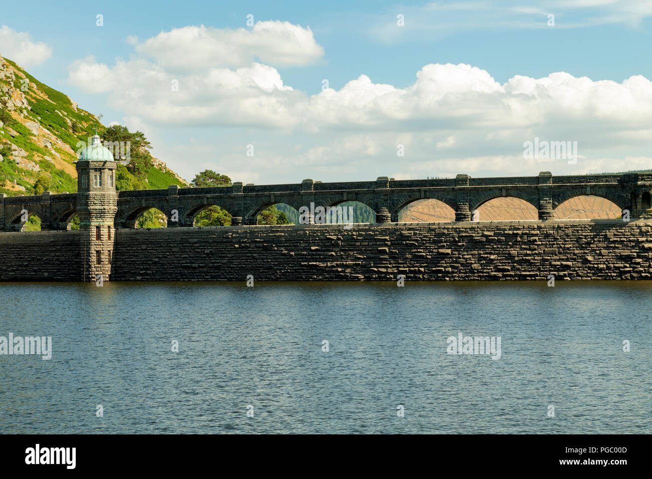 Craig Goch Dam/Reservoir in the Elan Vally, - Stock Image