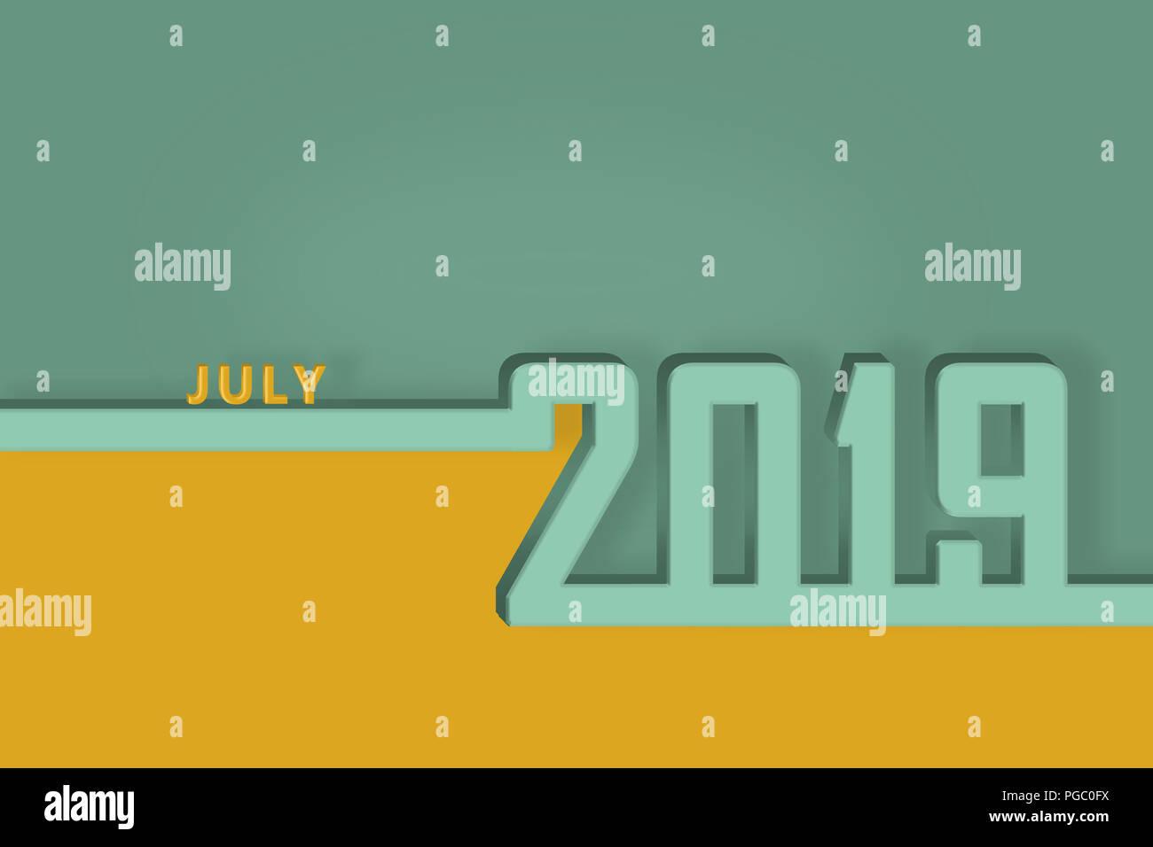 July 2019 Calendar Stock Photos July 2019 Calendar Stock Images