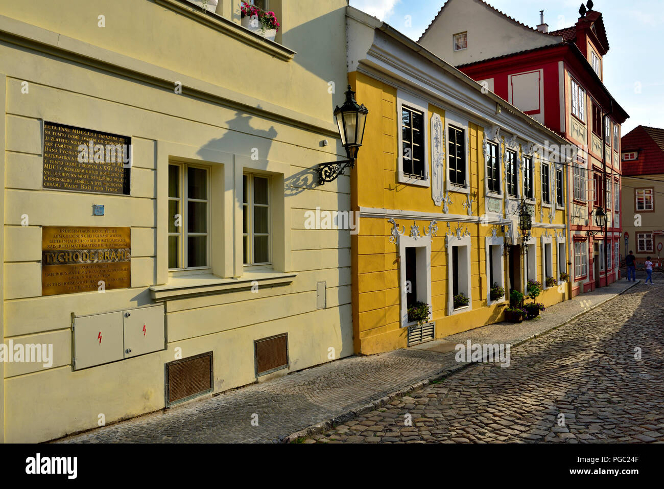 House of Tycho de Brahe, famous Danish mathematician and astronomer to 1600, when he lived in Prague - Stock Image