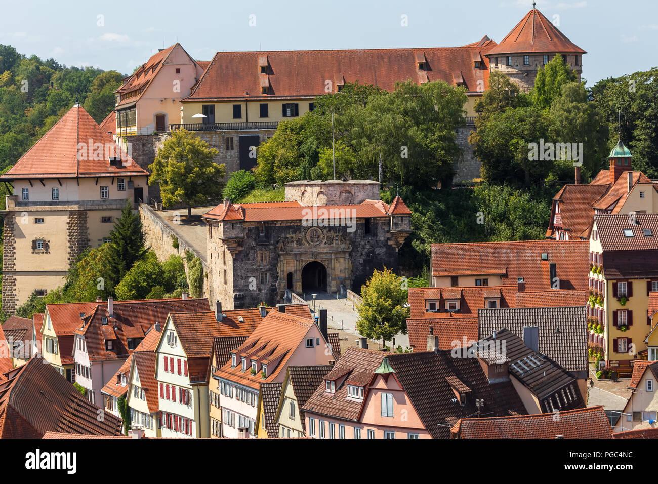 castle tuebingen germany - Stock Image