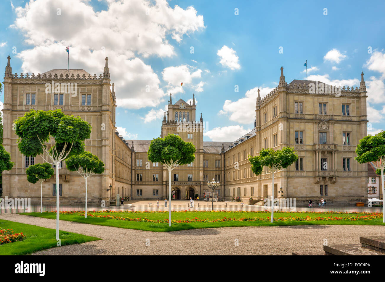 COBURG, GERMANY - JUNE 20: Ehrenburg palace in Coburg, Germany on June 20, 2018. - Stock Image