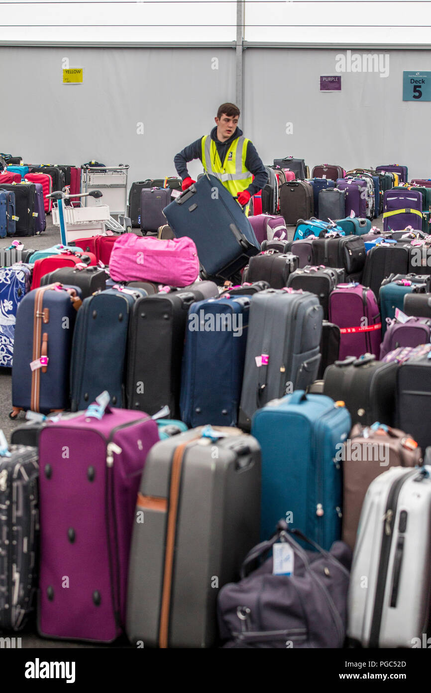 luggage stored in warehouse - Stock Image