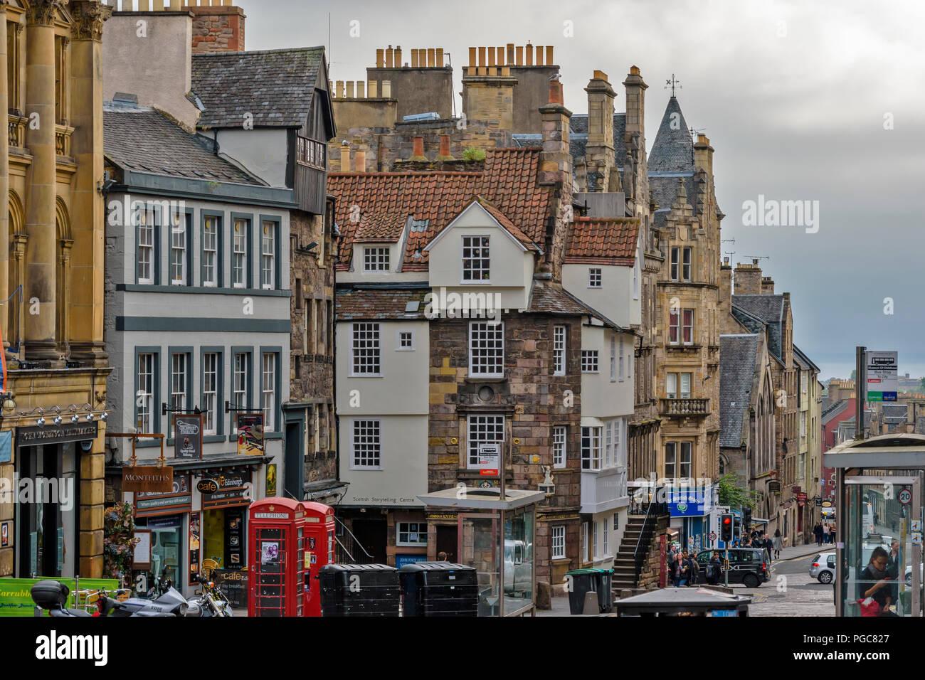 EDINBURGH SCOTLAND JOHN KNOXS HOUSE ON HIGH STREET Stock Photo