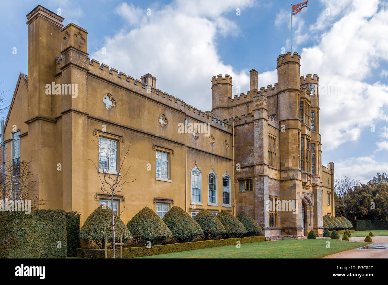Views of the famous Coughton Court near Alcester, Warwickshire. - Stock Image