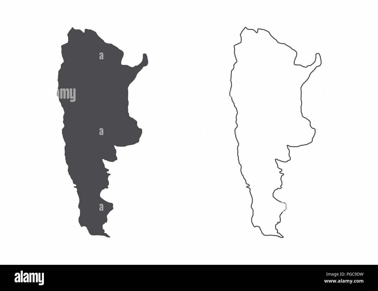 Maps of Argentina - Stock Vector