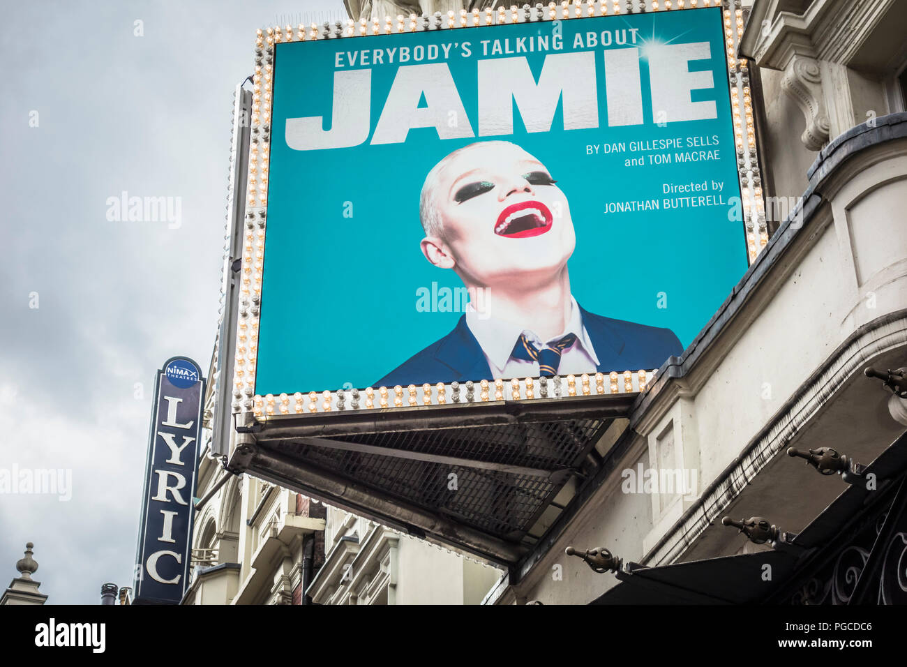 Everybody's Talking About Jamie feelgood musical at the Apollo Theatre, Shaftesbury Avenue, London, UK - Stock Image