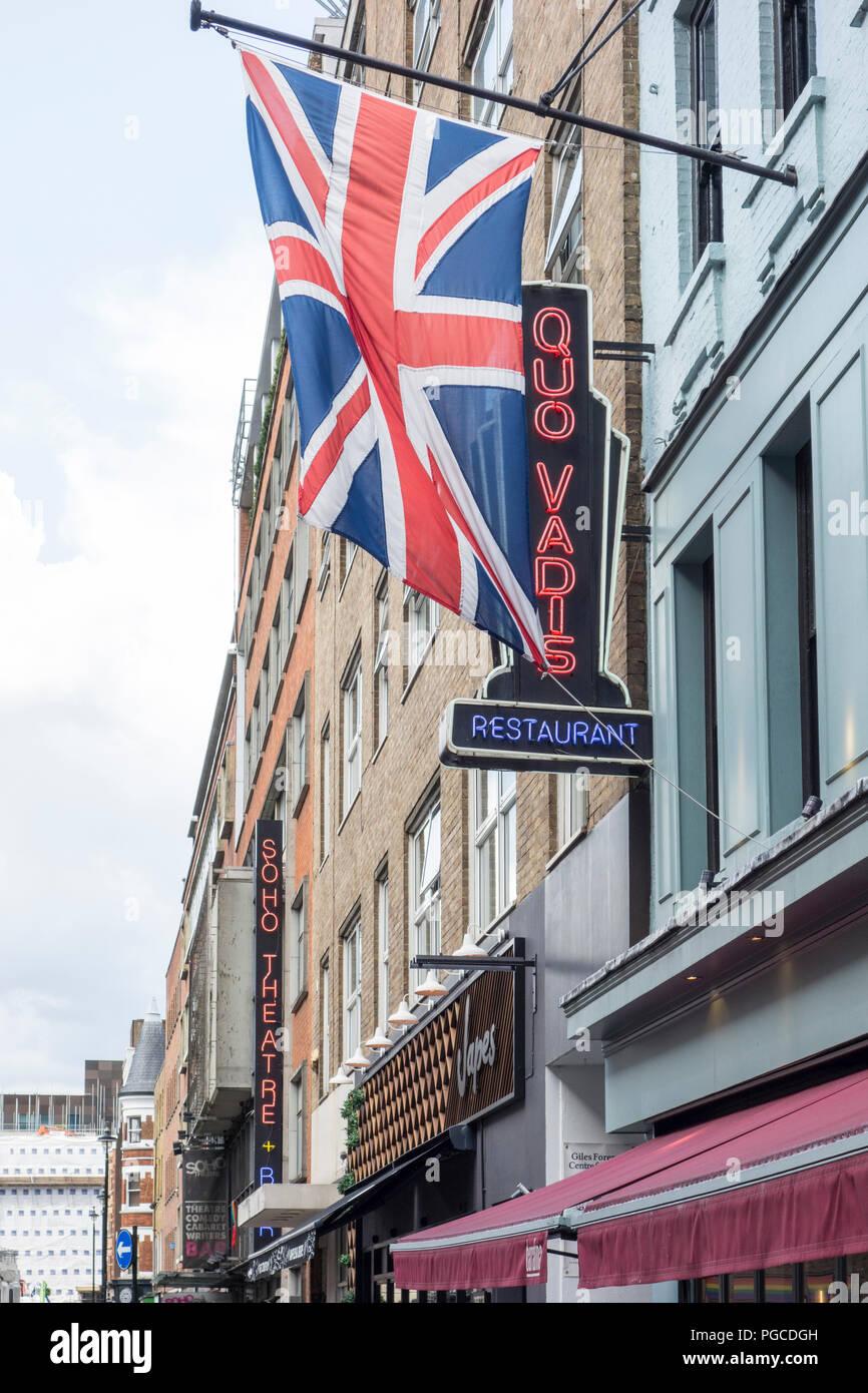 Quo Vadis, Dean Street, Soho, London, W1D, UK Stock Photo