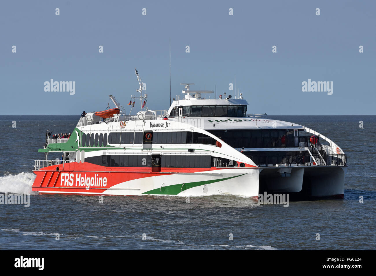 Highspeed-Ferry Halunder Jet returning to Cuxhaven from HelgolandStock Photo