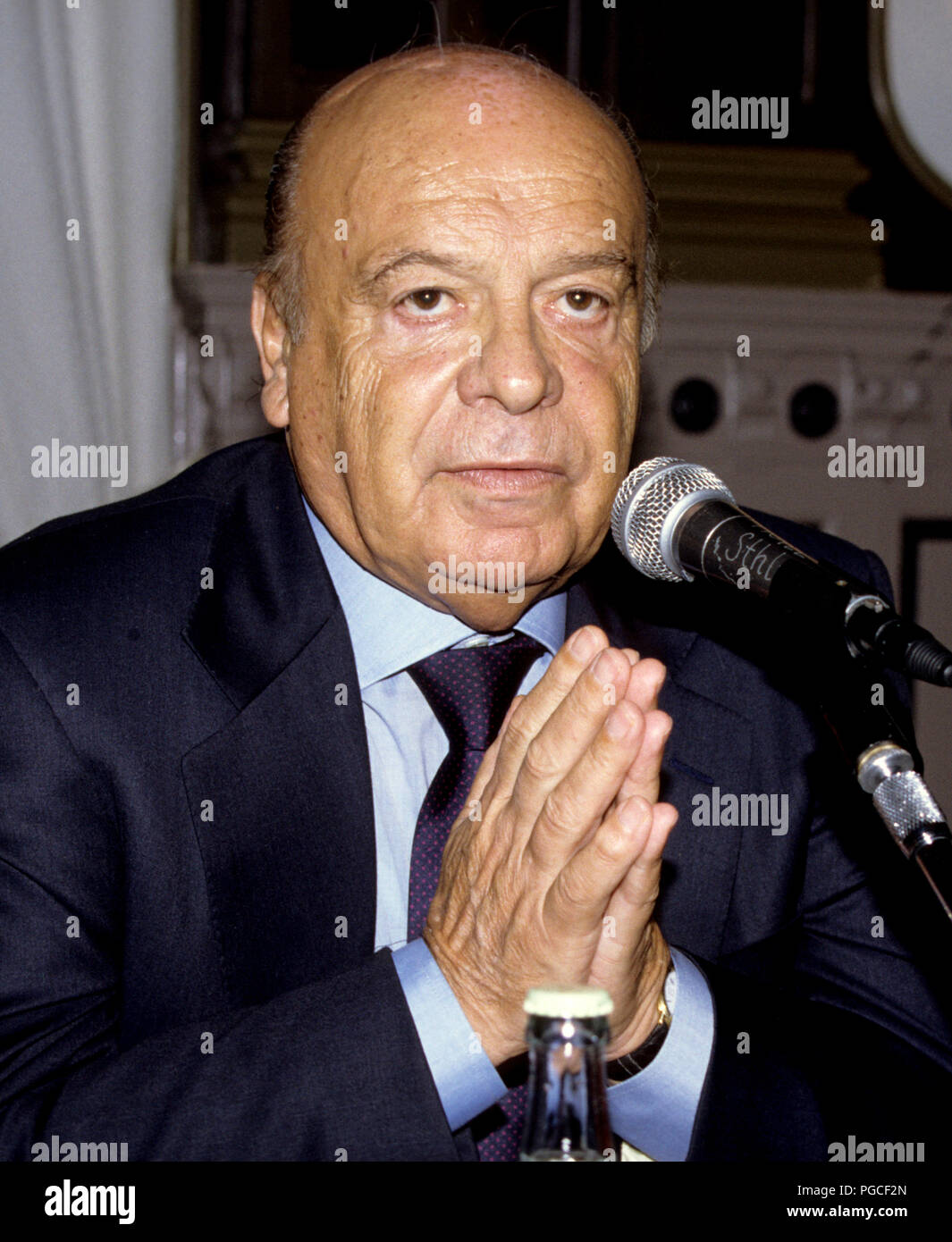 PRIMO NEBIOLO Italian sport official and president for IAAF the International Association of Athletics Federations - Stock Image