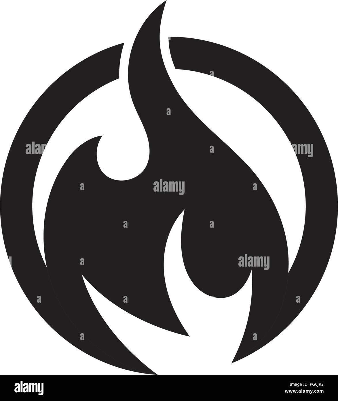 fire flame vector illustration design template stock vector art