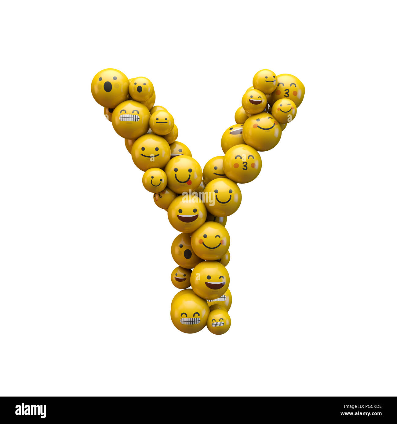 Letter Y Emoji Character Font 3d Rendering Stock Photo 216637610