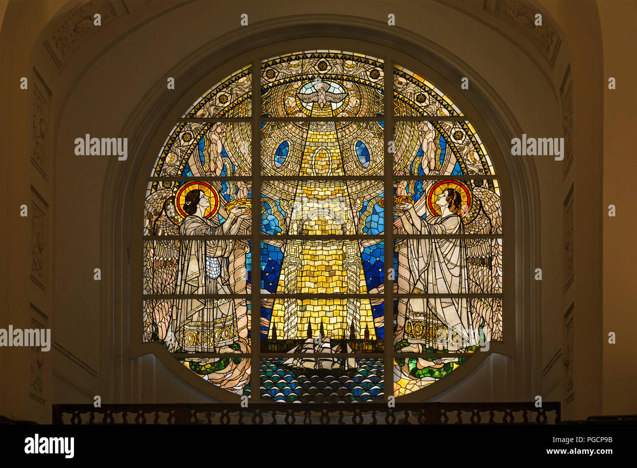 Fenster, Michaeliskirche (Michel), Hamburg, Deutschland | window, St. Michael´s Church (Michel), Hamburg, Germany - Stock Image