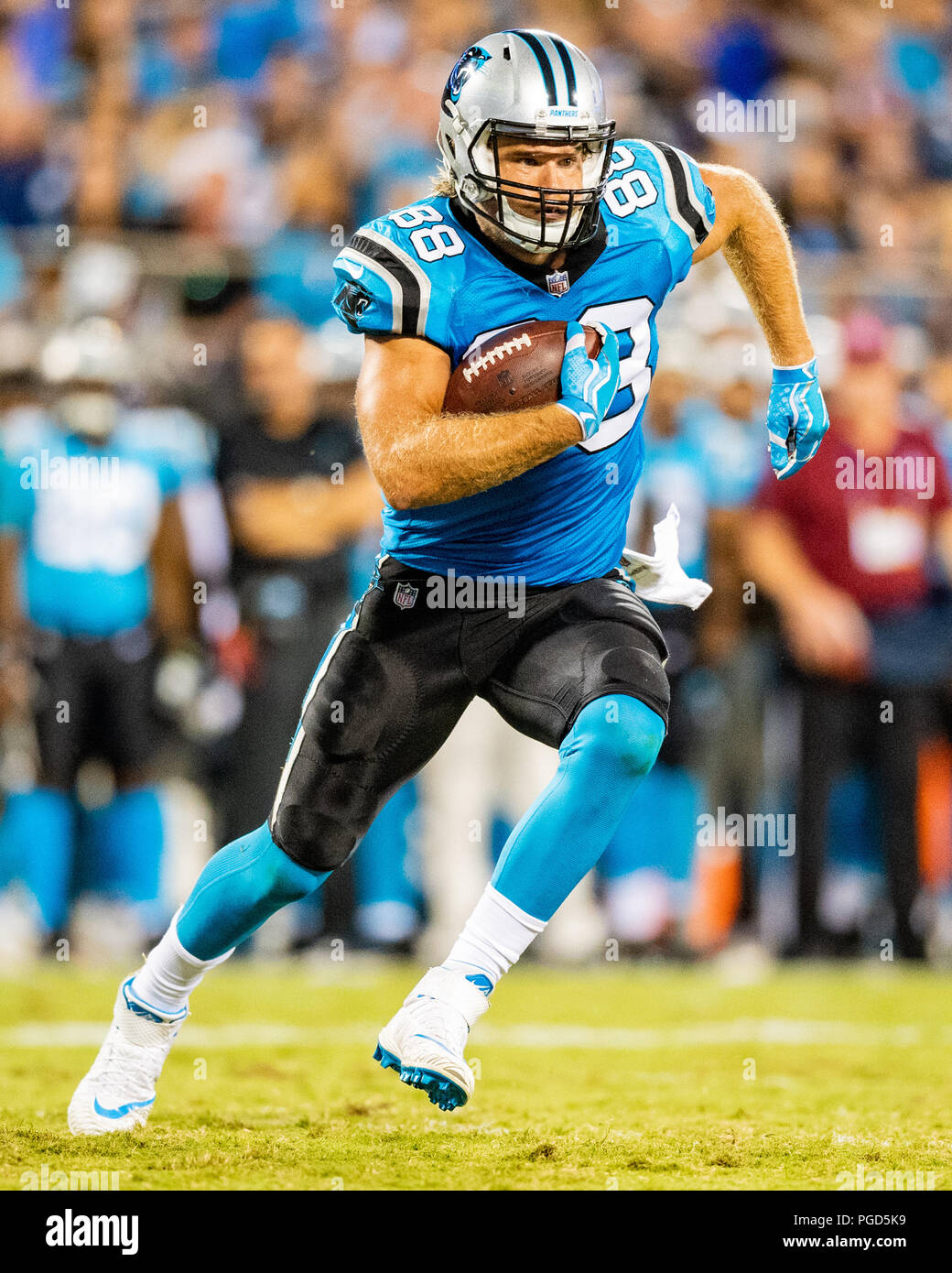 7604554e0 Carolina Panthers tight end Greg Olsen (88) during the preseason NFL  football game between the New England Patriots and the Carolina Panthers on  Friday ...