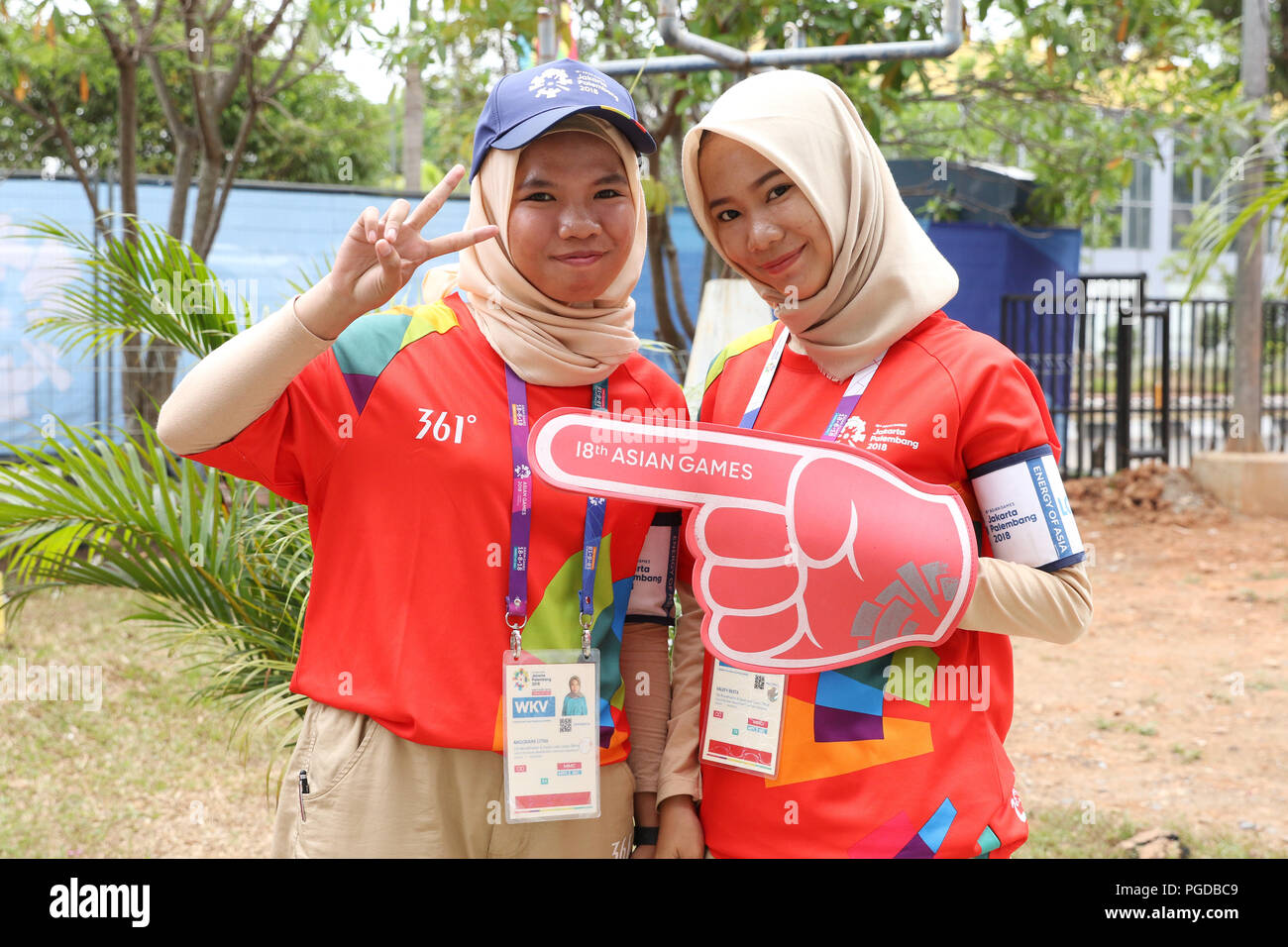 Volunteer, AUGUST 25, 2018 : the 2018 Jakarta Palembang Asian Games in Palembang, Indonesia. Credit: Yohei Osada/AFLO SPORT/Alamy Live News - Stock Image