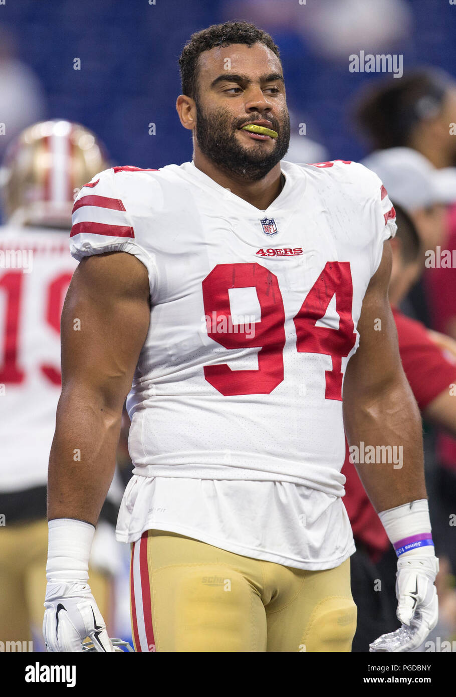54594b048 August 25, 2018: San Francisco 49ers defensive lineman Solomon Thomas (94)  during NFL football preseason game action between the San Francisco 49ers  and the ...