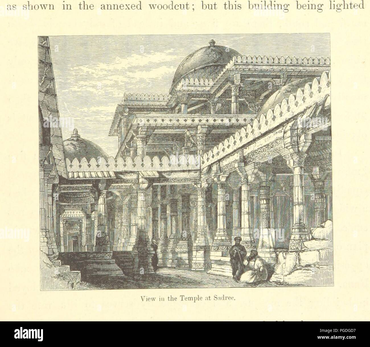 Image  from page 107 of 'Architecture at Ahmedabad, the Capital of Goozerat, photographed by Colonel Biggs, ... With an historical and descriptive sketch, by T. C. H., ... and architectural notes by J. Fergusson, etc' by Th0088. - Stock Image